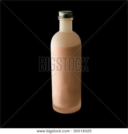 Matt bottle with pink cream.