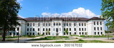 Drobeta Turnu Severin, Romania - 18.04.2019: Iron Gates Museum Landmark Architecture Facade