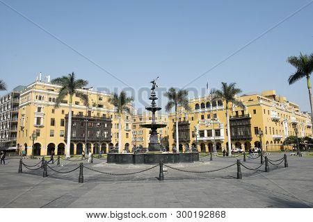 La Municipalidad De Lima Municipal Building City Hall On Plaza Mayor Armas Lima Peru. Peru.