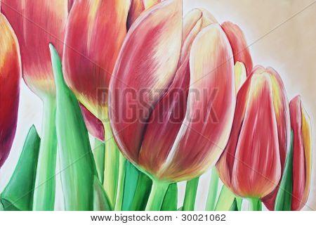 Tulpe-Ölgemälde