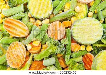 A Close Up Of Colorful Frozen Vegetables