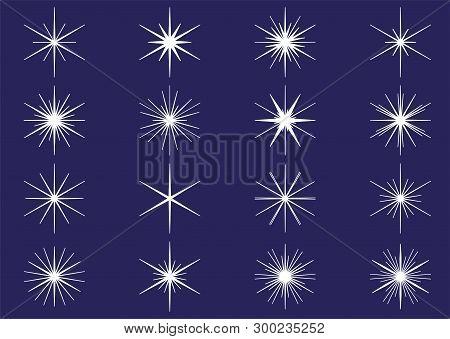 Vector Illustration Of Light Sparkle, Blink & Shine
