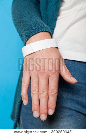 Concert Paper Bracelet Mockup, Event Wristband. Arm Activity Accessory, Adhesive, Cheap.