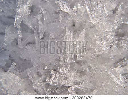 Ice Crystals In The Early Spring, Omsk Region, Siberia
