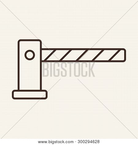 Barrier Line Icon. Bar, Gate, Arm. Customs Concept. Vector Illustration Can Be Used For Topics Like