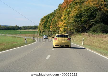 Car Driving On The Road