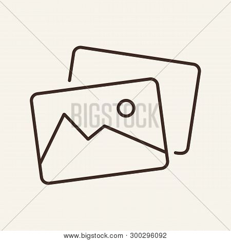 Pictures Line Icon. Photo, Gallery, Snapshot. Social Media Concept. Vector Illustration Can Be Used