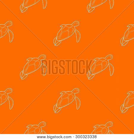 Turtle Pattern Vector Orange For Any Web Design Best