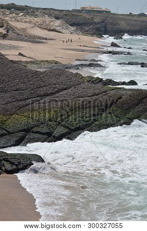 Volcanic Rocks The Beautiful Beach Of Cresmina In Cascais. Photograph Of Street, Nature, Architectur