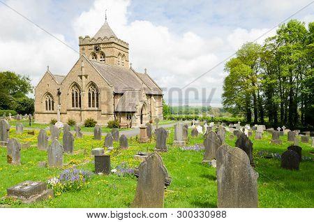 Halkyn, Uk - May 3, 2019: The Church Of St Mary The Virgin, Halkyn  Is An Active Anglican Parish Chu