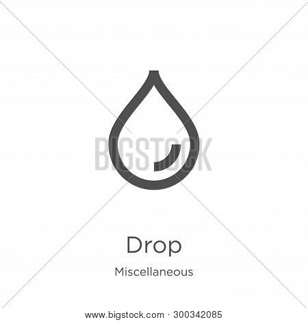 drop icon isolated on white background from miscellaneous collection. drop icon trendy and modern drop symbol for logo, web, app, UI. drop icon simple sign. drop icon flat vector illustration for graphic and web design. poster