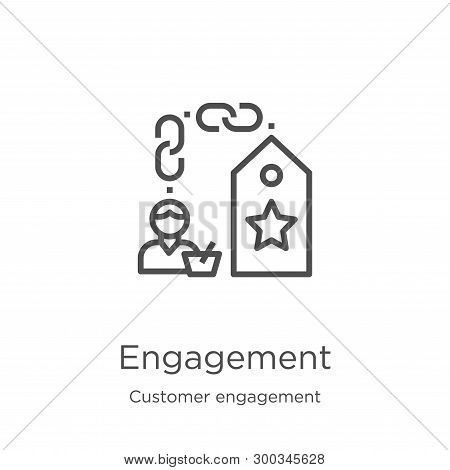 Engagement Icon Isolated On White Background From Customer Engagement Collection. Engagement Icon Tr