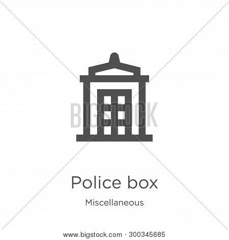 Police Box Icon Isolated On White Background From Miscellaneous Collection. Police Box Icon Trendy A