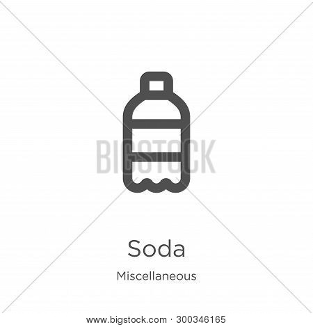 Soda Icon Isolated On White Background From Miscellaneous Collection. Soda Icon Trendy And Modern So