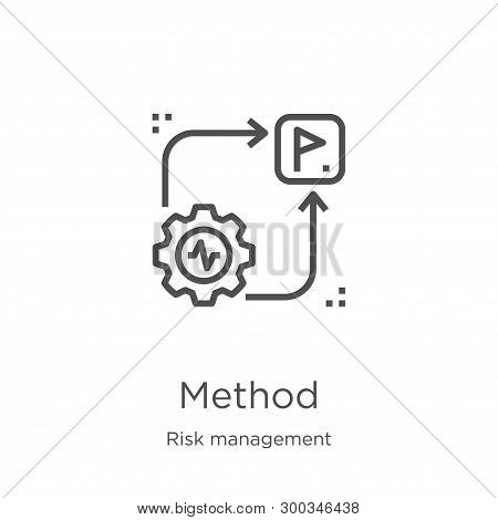 Method Icon Isolated On White Background From Risk Management Collection. Method Icon Trendy And Mod
