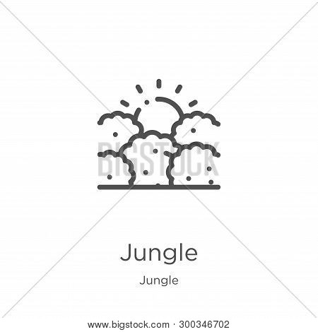Jungle Icon Isolated On White Background From Jungle Collection. Jungle Icon Trendy And Modern Jungl