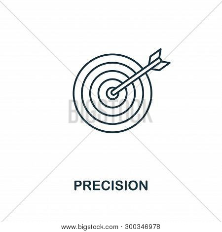 Precision Icon. Outline Style Thin Design From Business Icons Collection. Pixel Perfect Simple Picto