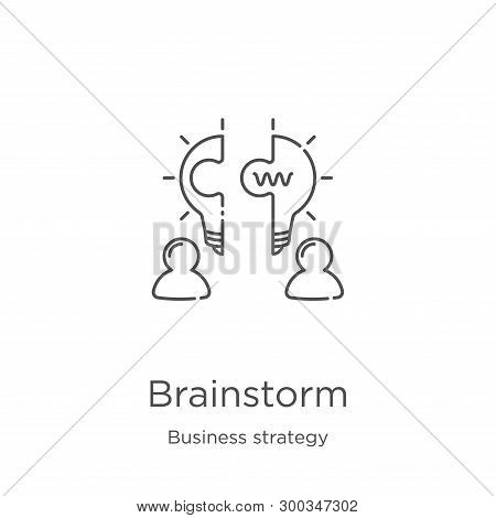 Brainstorm Icon Isolated On White Background From Business Strategy Collection. Brainstorm Icon Tren