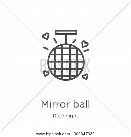 Mirror Ball Icon Isolated On White Background From Date Night Collection. Mirror Ball Icon Trendy An