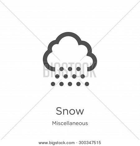 Snow Icon Isolated On White Background From Miscellaneous Collection. Snow Icon Trendy And Modern Sn