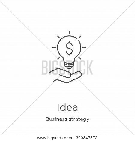 Idea Icon Isolated On White Background From Business Strategy Collection. Idea Icon Trendy And Moder