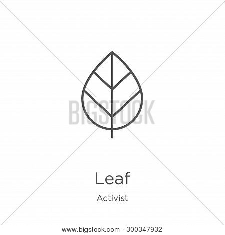 Leaf Icon Isolated On White Background From Activist Collection. Leaf Icon Trendy And Modern Leaf Sy