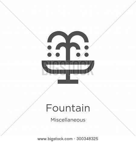 fountain icon isolated on white background from miscellaneous collection. fountain icon trendy and modern fountain symbol for logo, web, app, UI. fountain icon simple sign. fountain icon flat vector illustration for graphic and web design. poster