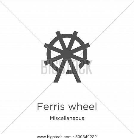 Ferris Wheel Icon Isolated On White Background From Miscellaneous Collection. Ferris Wheel Icon Tren