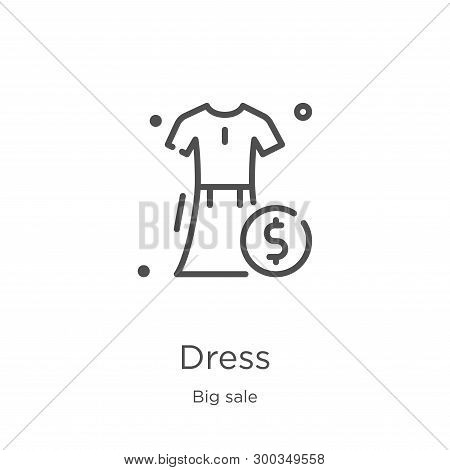 Dress Icon Isolated On White Background From Big Sale Collection. Dress Icon Trendy And Modern Dress