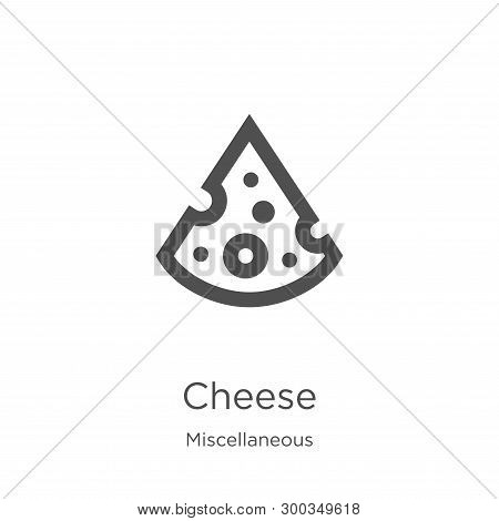 cheese icon isolated on white background from miscellaneous collection. cheese icon trendy and modern cheese symbol for logo, web, app, UI. cheese icon simple sign. cheese icon flat vector illustration for graphic and web design. poster