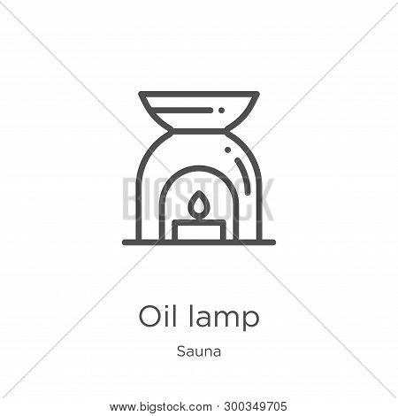 Oil Lamp Icon Isolated On White Background From Sauna Collection. Oil Lamp Icon Trendy And Modern Oi