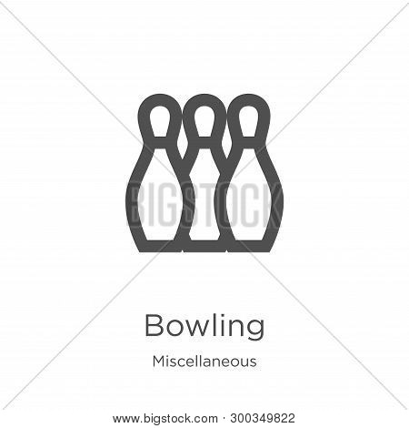 bowling icon isolated on white background from miscellaneous collection. bowling icon trendy and modern bowling symbol for logo, web, app, UI. bowling icon simple sign. bowling icon flat vector illustration for graphic and web design. poster