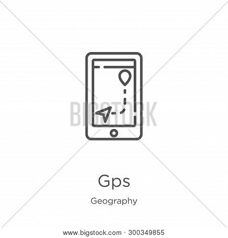 Gps Icon Isolated On White Background From Geography Collection. Gps Icon Trendy And Modern Gps Symb