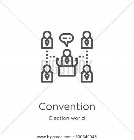 Convention Icon Isolated On White Background From Election World Collection. Convention Icon Trendy