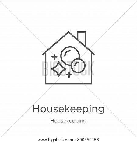 Housekeeping Icon Isolated On White Background From Housekeeping Collection. Housekeeping Icon Trend