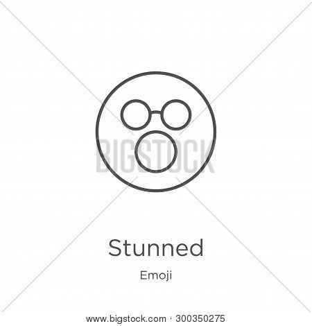 Stunned Icon Isolated On White Background From Emoji Collection. Stunned Icon Trendy And Modern Stun