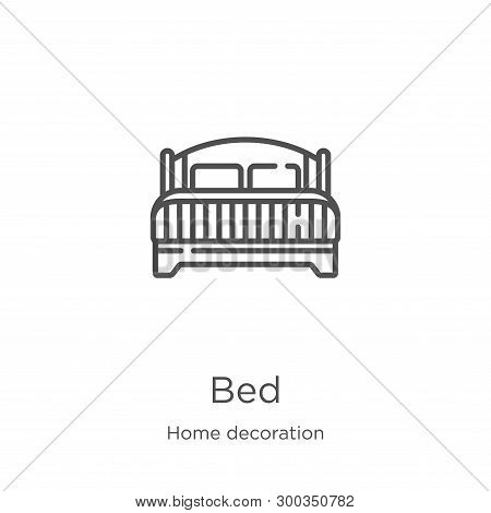 Bed Icon Isolated On White Background From Home Decoration Collection. Bed Icon Trendy And Modern Be