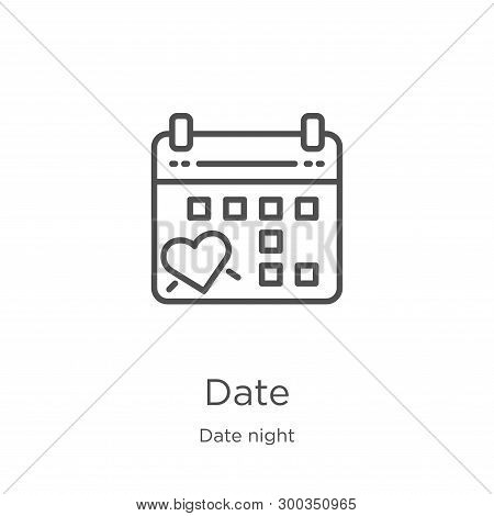 Date Icon Isolated On White Background From Date Night Collection. Date Icon Trendy And Modern Date