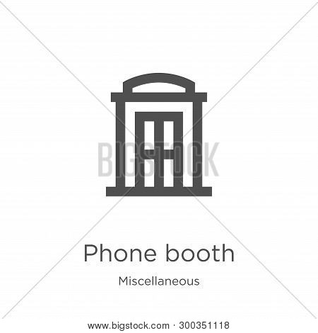 Phone Booth Icon Isolated On White Background From Miscellaneous Collection. Phone Booth Icon Trendy