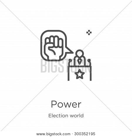 Power Icon Isolated On White Background From Election World Collection. Power Icon Trendy And Modern