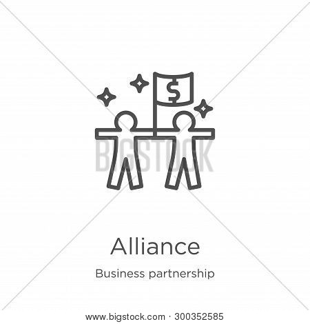 Alliance Icon Isolated On White Background From Business Partnership Collection. Alliance Icon Trend