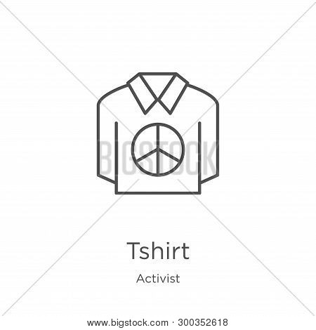 Tshirt Icon Isolated On White Background From Activist Collection. Tshirt Icon Trendy And Modern Tsh