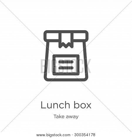 Lunch Box Icon Isolated On White Background From Take Away Collection. Lunch Box Icon Trendy And Mod