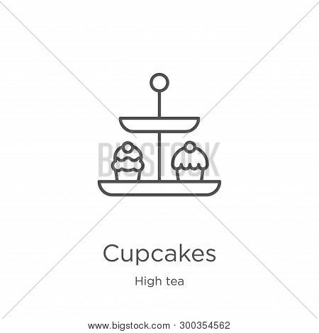 Cupcakes Icon Isolated On White Background From High Tea Collection. Cupcakes Icon Trendy And Modern