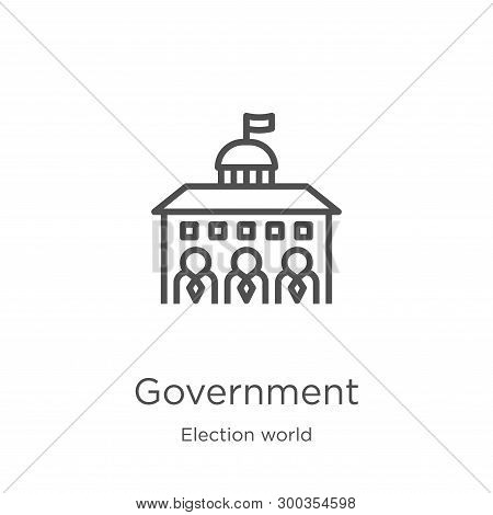 Government Icon Isolated On White Background From Election World Collection. Government Icon Trendy