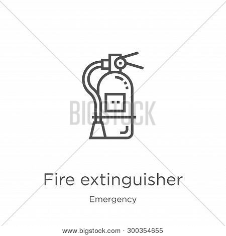 Fire Extinguisher Icon Isolated On White Background From Emergency Collection. Fire Extinguisher Ico