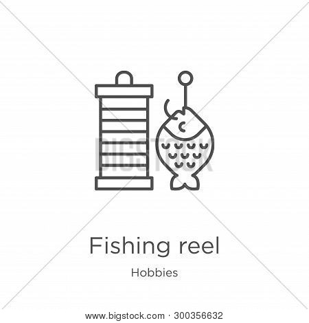 Fishing Reel Icon Isolated On White Background From Hobbies Collection. Fishing Reel Icon Trendy And