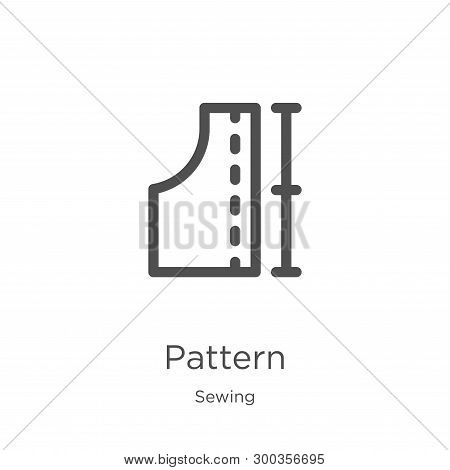 Pattern Icon Isolated On White Background From Sewing Collection. Pattern Icon Trendy And Modern Pat
