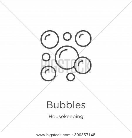 Bubbles Icon Isolated On White Background From Housekeeping Collection. Bubbles Icon Trendy And Mode