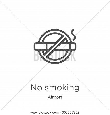 No Smoking Icon Isolated On White Background From Airport Collection. No Smoking Icon Trendy And Mod